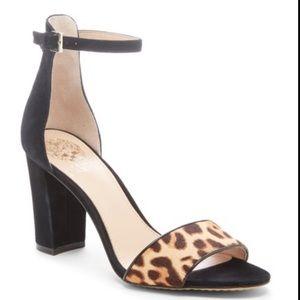 NEW Vince Camuto Corlina Ankle Strap Sandal Black